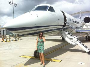 With Gulfstream G450 at Seletar