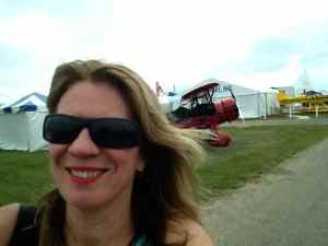 selfie and seaplane